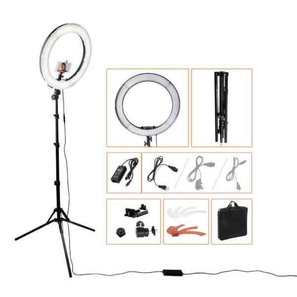 Кольцевая LED лампа 445мм с регулировкой температуры