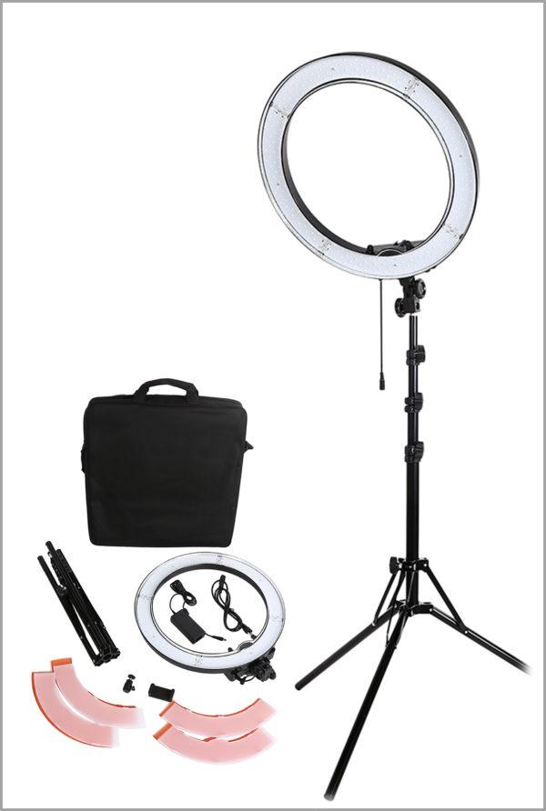 Кольцевая LED лампа со штативом 48.5см