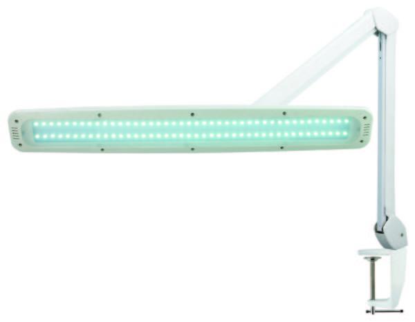 Лампа косметологическая на струбцине бестеневая
