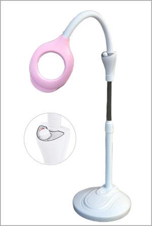 Лампа-лупа косметологическая розовая