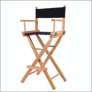 Стул визажиста, режиссерский стул. Мобильный складной стул стилиста, парикмахера
