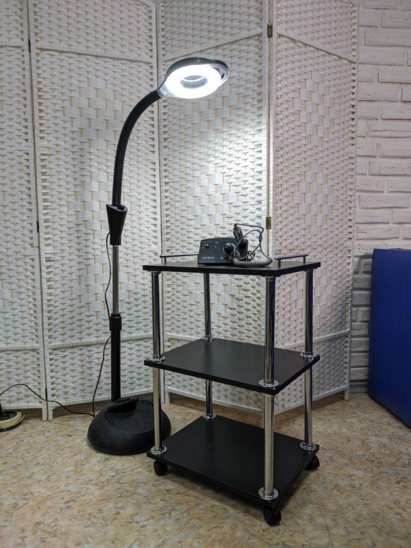 Лампа-лупа косметологическая 54Вт (черная)