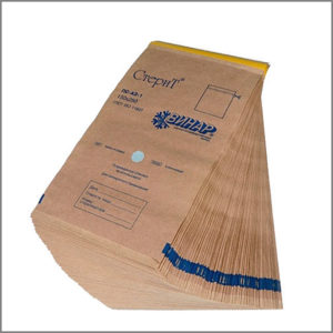Крафт-пакеты 100х250 бумажные самоклеющиеся