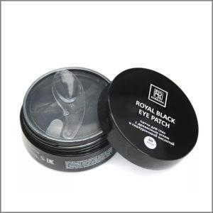 Патчи для глаз Barbara «Royal Black» черные с углем, 60 шт