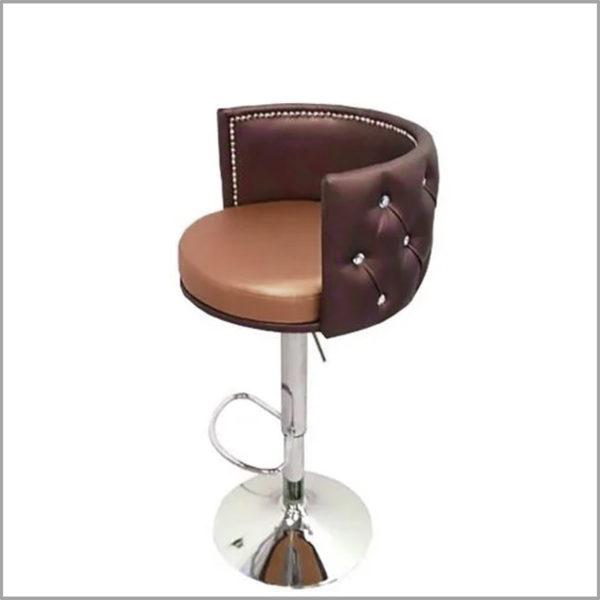 Кресло визажиста, стилиста на барной ножке на диске